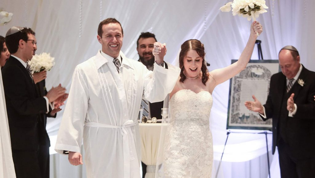 Married this past September, Illinois natives Richard and Sara Brener first met on an online dating app.